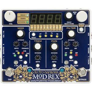 Electro-Harmonix-EHX-Mod-Rex-Polyrhythmic-Modulator-Guitar-Effects-Pedal-w-MIDI