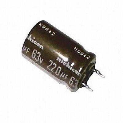 6pcs Illinois Capacitor  220uF 63v 105C Radial Electrolytic CKHM