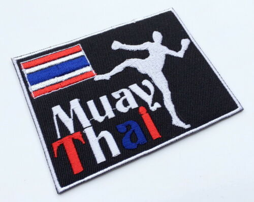 Muay Thai Fight Boxing Sport Embroidered Iron On Sew Patches Jeans Jackets Vests