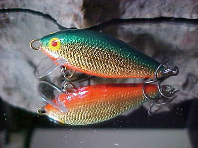 """AC Model 250 Shiner 2 1//2/"""" Wood Shallow Minnow Freshwater in SHAD for Trout"""