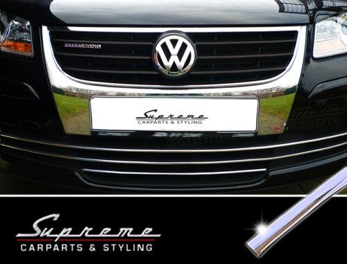 VW Touran 1T GP 06-10 Chrom Zierleisten für Kühlergrill ohne NSW unten 3M