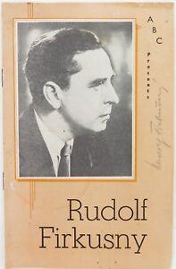 SCARCE-1959-RUDOLF-FIRKUSNY-CZECH-PIANIST-SIGNED-AUSTRALIAN-TOUR-ABC-PROGRAMME
