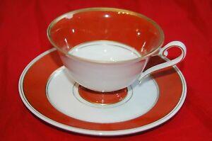 Schierholz-Porzellan-50er-60we-Jahre-Tasse-Teller-Gedeck