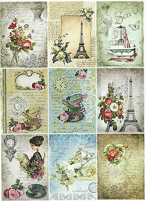 Rice Paper for Decoupage Decopatch Scrapbook Craft Sheet Vintage Parisian Life