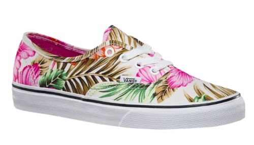 Details zu Vans Authentic Hawaiian Floral Canvas Damen Mädchen Sneaker Freizeitschuhe 34,5