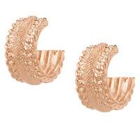 Wendy Williams Rosetone Textured Hoop Earrings Qvc