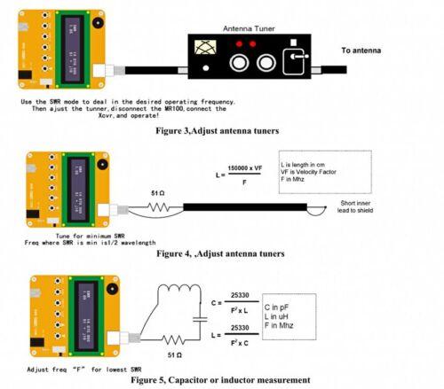 MR300 Digital Shortwave Antenna Analyzer Meter Tester 1-60M For Ham Radio batte