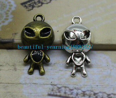 8/25pcs 31x16mm Antique Silver bronze Lovely Alien doll Charms Pendant