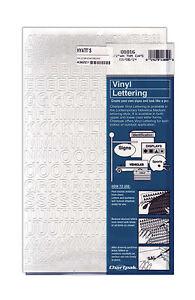 Vinyl letters 1 2 inch caps white ebay for 1 4 inch white vinyl letters
