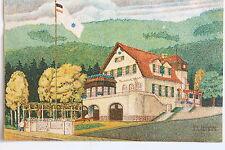 24262 Künstler AK Meißen Bootshaus vom Meissner Ruderklub Neptun 1916 mit Fahne