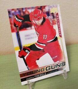 2018-19-UD-Young-Guns-Exclusives-Warren-Foegele-76-100-Hurricanes-ROOKIE-RC