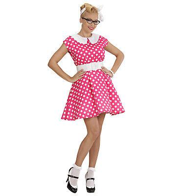 50's Lady Fancy Dress Costume With Built In Petticoat Woman's Female 1950s Dress