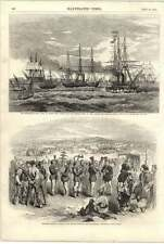 1855 Turkish General Tent Band Yenikale Retribution Leaving Kiel Harbour