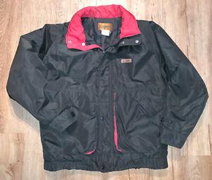 Vintage-Gerry-Black-amp-Red-Winter-Coat-Mens-Size-L-Large-With-Hood
