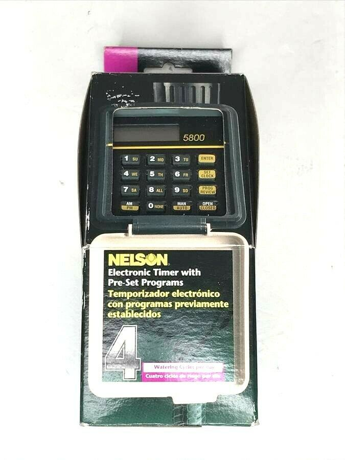 Nelson Electronic Timer With 4 Pre Set Programs 5800