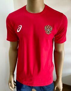 "АСИКС ""WRESTLING TEAM RUSSIA"" Herren T-Shirt ROT S-M-L-XL-XXL NEW Collection"