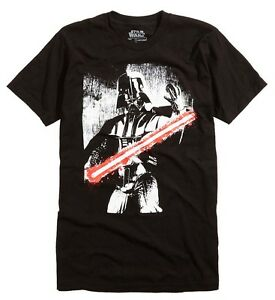 Star-Wars-Darth-Vader-Black-White-Red-Saber-Black-Men-039-s-T-Shirt-New