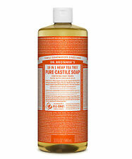 Dr Bronner`s Organic Tea Tree Castile Liquid Soap (946ml) All Natural - Vegan