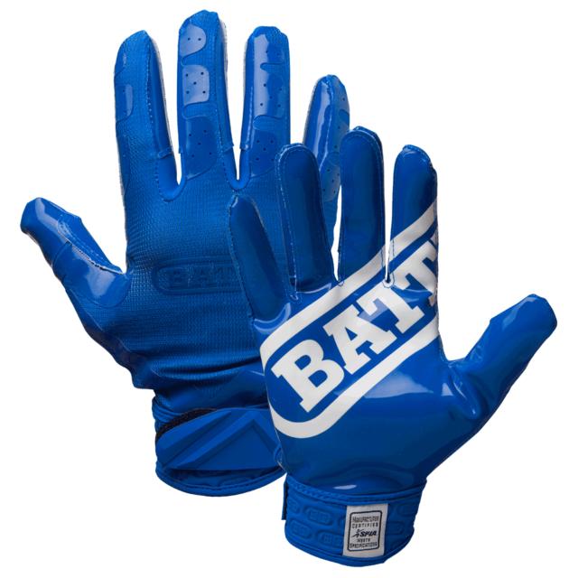 Battle Youth Doublethreat Football Gloves Blue Large Ebay