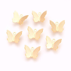 20pcs-Real-Gold-Plated-Brass-Mini-Dnagle-Charms-Butterfly-Pendants-Craft-11x13mm