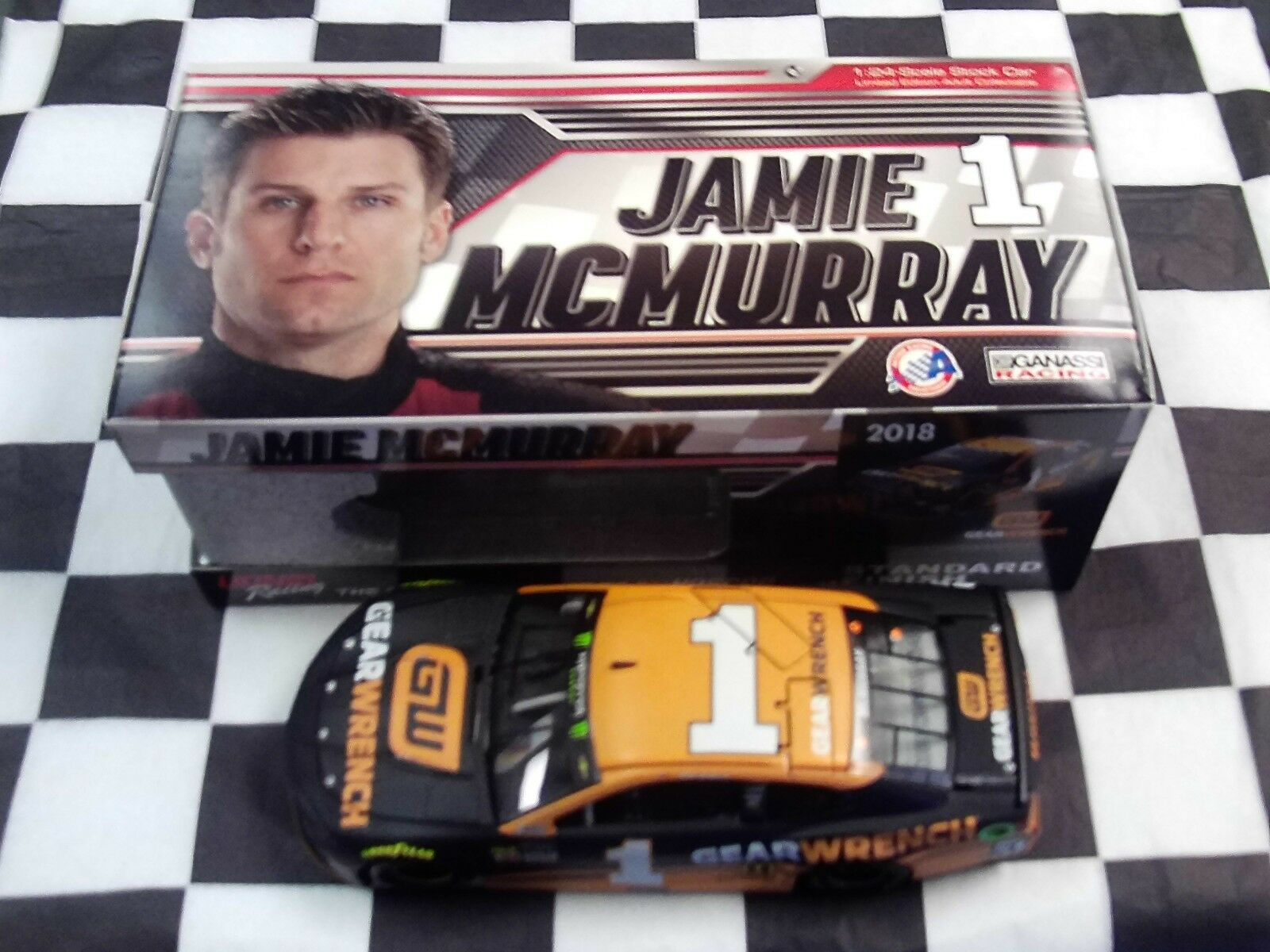 Jamie McMurray  1 GearWrench 2018 Camaro Action 1:24 scale NASCAR CX11823GHMC