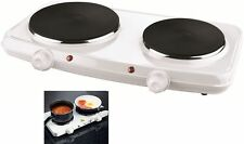 2250 W DOUBLE HOT PLATE TABLE TOP PORTABLE ELECTRIC TWIN HOTPLATE NEW