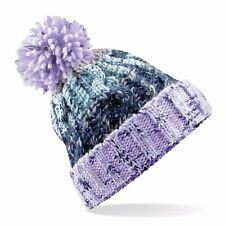 Cable Knit Beanie Chunky Winter Warm Woolly Bobble Ski Hat Mens Womens  Ladies 717fd638188