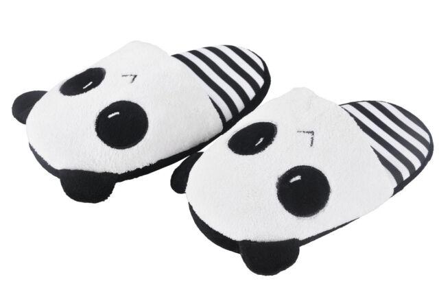 2ce030fd5 Men Women s Cute Panda Eyes Slippers Lovely Cartoon Indoor Home Soft Shoes