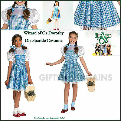 Girls DOROTHY Sparkle DELUXE Oz Wizard Film  Fancy Dress Costume Book Week S M L