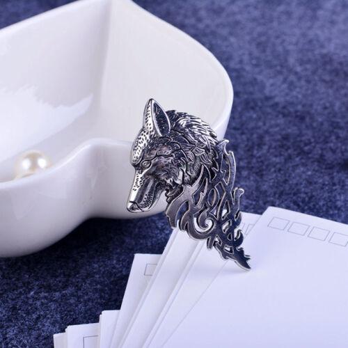 Unisexe Rétro Europe Wolf badge broche épinglette Costume Accessoire Bijoux Cadeau