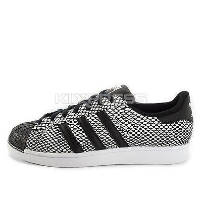 6153052d2ef0 Adidas Superstar Snake Pack  S81728  Original Casual Black White