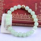 Bracelet Elastique Doré Perle Verre Facetté Vert Vintage Mariage Class CT5