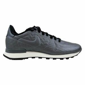 Details about Nike Internationalist Hematite Black Grey Women's Metallic Sneakers Size 7.5
