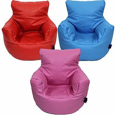 Childrens Bean Bag Chair Small Faux Leather Three Colours Free UK Delivery