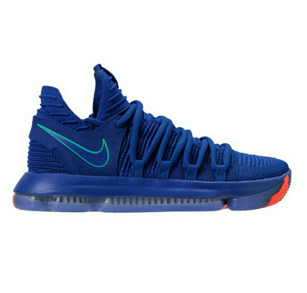 Nike gli zoom kd 10 edizione della città le scarpe blu / la luce profonda 897815-402 racer