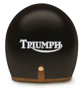 2x TRIUMPH MOTORBIKE HELMET or TANK STICKERS in WHITE gloss - great present!