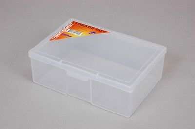 14 off Fischer Plastic Products 1 Compartment Storage Boxes Medium 1H-032 Clear
