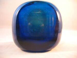 Mdina-Cobalt-Blue-Glass-Facet-Cut-039-Inside-Out-Vase-039-Michael-Harris-Hard-to-Find