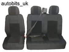 2 +1 Negro Premium Tela cubiertas de asiento para VW TRANSPORTER T4 1992-2003 Caravelle