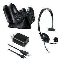 Dreamgear Essentials Gaming Starter Kit For Ps4 - Headset Charger Usb Cable