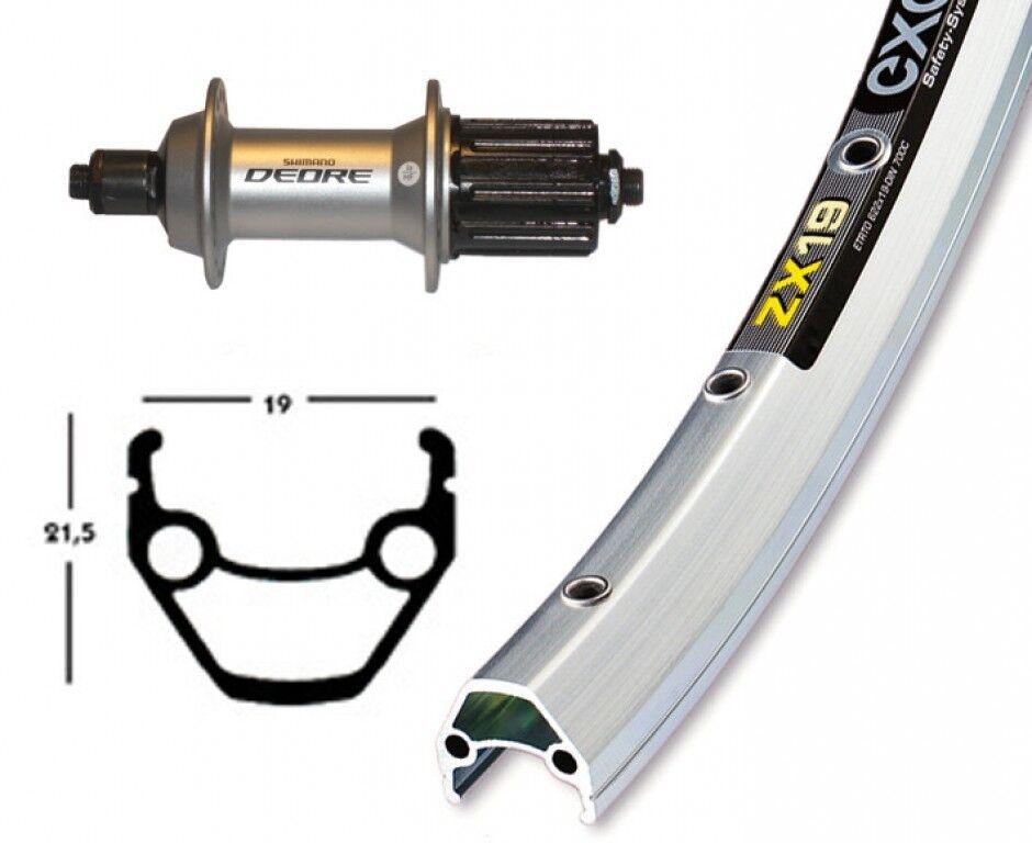 Bike-Parts 28″ Hinterrad Exal ZX 19 + Shimano Deore 8 9-fach (QR)