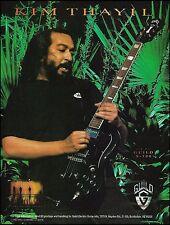 Soundgarden Kim Thayil Guild S-100 electric guitar ad 8 x 11 advertisement