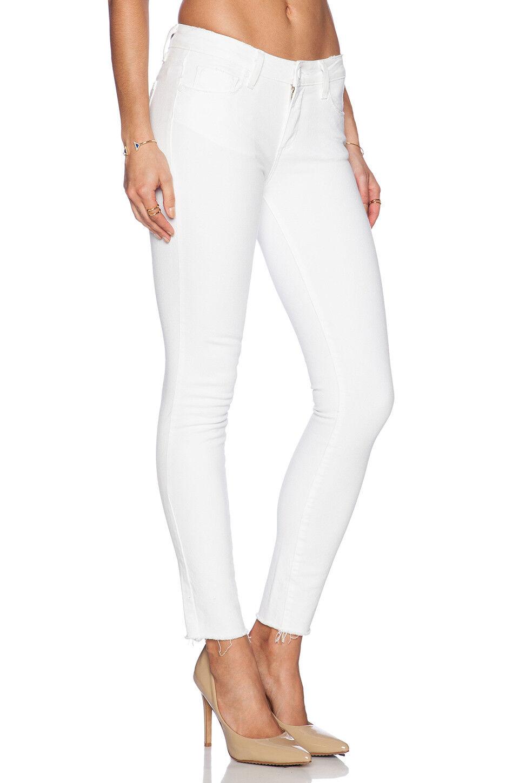 199 NWT PAIGE VERDUGO ANKLE sz 32 Skinny Crop Jeans w  RAW HEM in OPTIC WHITE