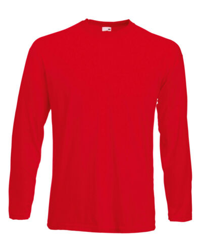 Fruit of the loom manches longues Valueweight Adulte T-shirt en coton-Homme