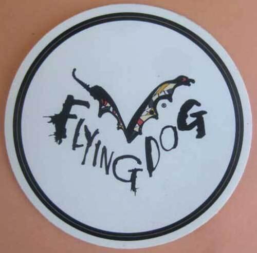 Frederick MARYLAND Flying Dog Brewing FLYING DOG 3 7//8 inch Beer STICKER Label