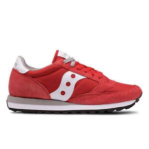 Saucony-Jazz-Original-Rosse-Scarpe-Uomo-Sneakers-in-Camoscio-Tela-Leggera