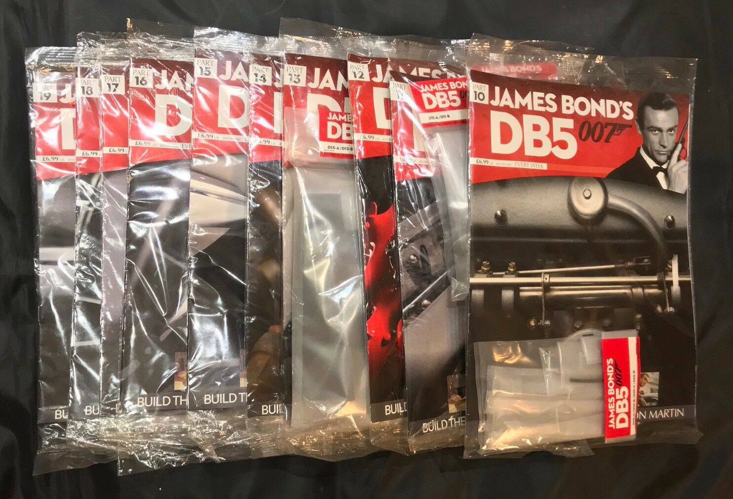 BUILD YOUR OWN JAMES BOND 007 1 8 ASTON MARTIN DB5 Mags & Parts 10-19