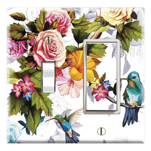 Graphics Art Toggle//Rocker//GFCI//Outlet Wall Plate Hummingbirds Painting