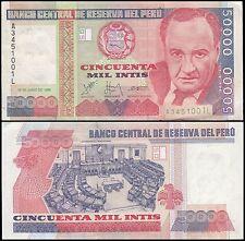 Peru 50,000 (50000) Intis, 1988, P-142, UNC
