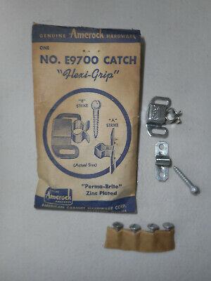 Vintage Amerock Chrome Plated E9700 Catch /& Strike Cabinet Cupboard Door Hoosier